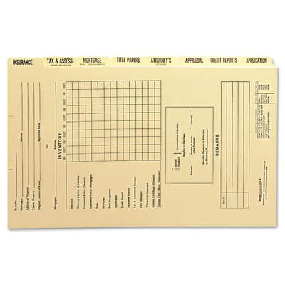 Dividers for Mortgage File Folder, Eight/Set