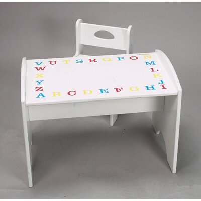 ABC Study Kids' 2 Piece Table and Chair Set 1416P