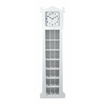 "62"" Floor Clock with CD Organizer"