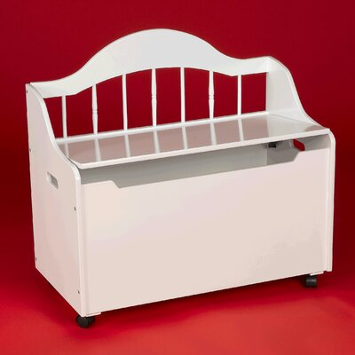 Gift Mark Deacon Bench/Toy Chest with Casters - Finish: White at Sears.com