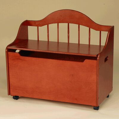 Gift Mark Deacon Bench/Toy Chest with Casters - Finish: Honey at Sears.com