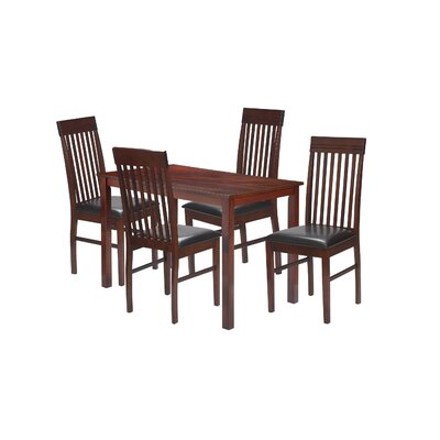 5 Piece Dining Set Finish: Dirty Oak