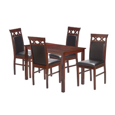 5 Piece Dining Set Finish: Oak