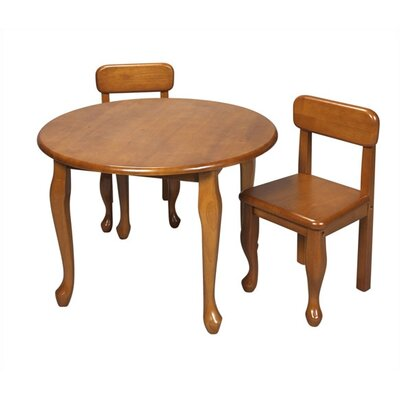 Gift Mark Queen Anne Kids 3 Piece Table and Chair Set - Finish: Honey at Sears.com
