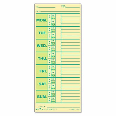 Time Card for Pyramid Model 331-10