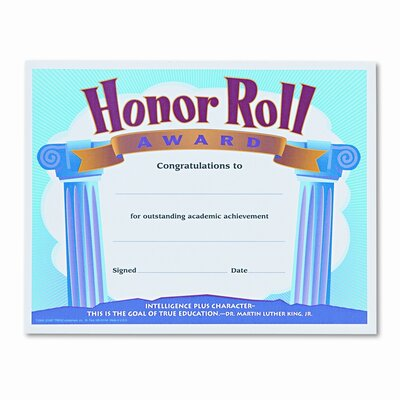 Honour Roll Award Certificates, 8-1/2 x 11, 30 per Pack TEPT2959