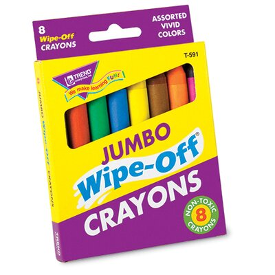 Wipe-off Crayons Jumbo 8/pk (Set of 2) T-591
