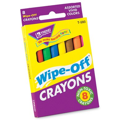 Wipe-off Crayons Regular 8/pk (Set of 3) T-593
