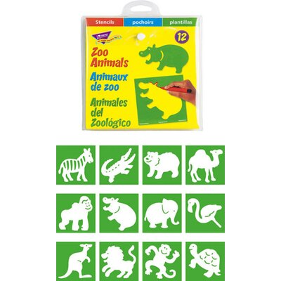 Trend Enterprises Stencils Zoo Animals at Sears.com
