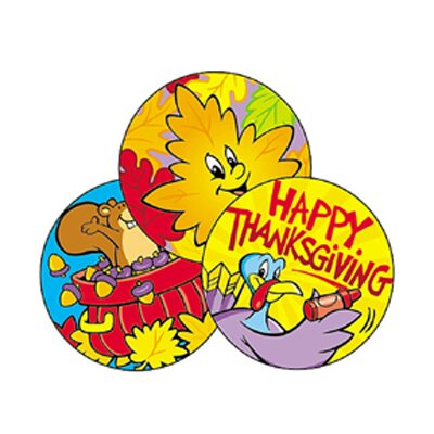 60 Piece Stinky Thanksgiving Sticker Set (Set of 3) T-83403