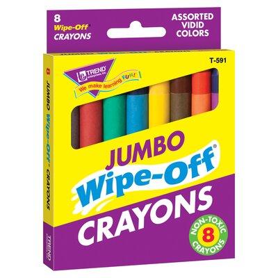 Wipe-off Crayons Jumbo 8/pk (Set of 2) T-591
