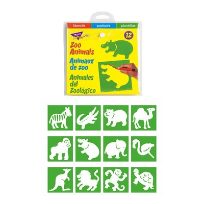 Stencils Zoo Animals T-65005