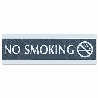 Headline Sign Century Series Office Sign, No Smoking