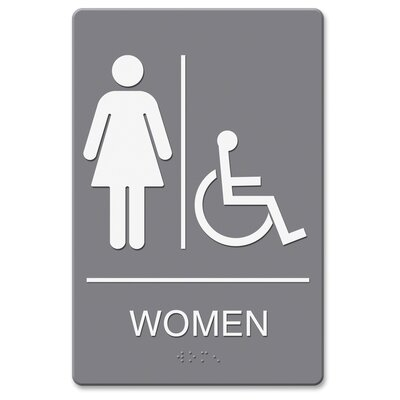 Headline Women/Wheelchair Image Indoor Sign
