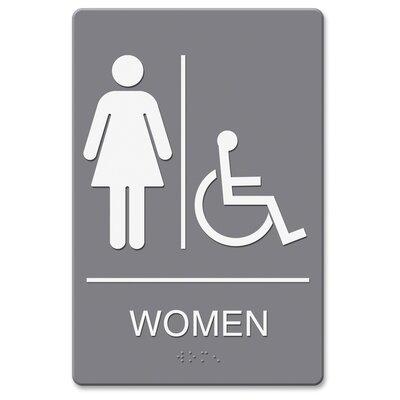 Headline Women/Wheelchair Image Indoor Sign