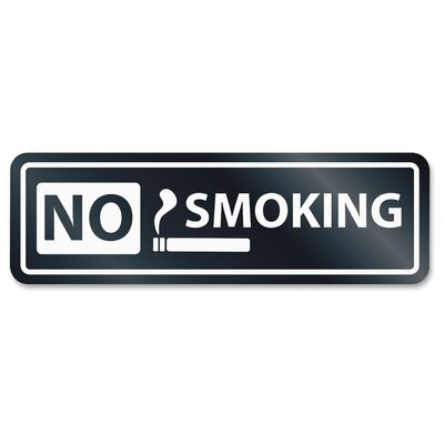 No Smoking Window Sign