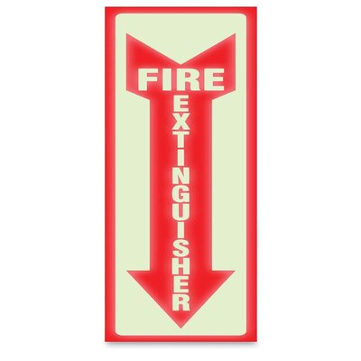 Glow Fire Extinguisher Sign