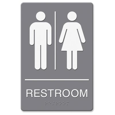 Headline Restroom Image Indoor Sign