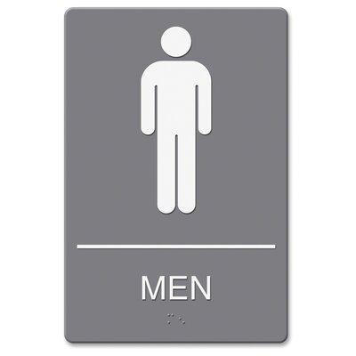 ADA Mens Restroom Sign with Symbol