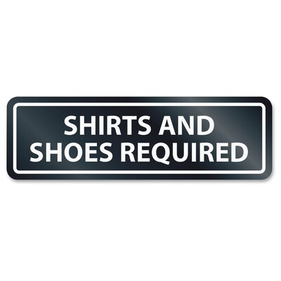 Shirts/Shoes Required Window Sign