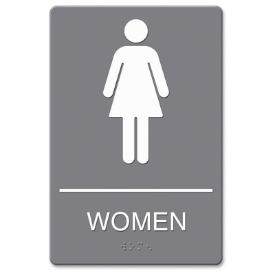 ADA Women Restroom Sign with Symbol