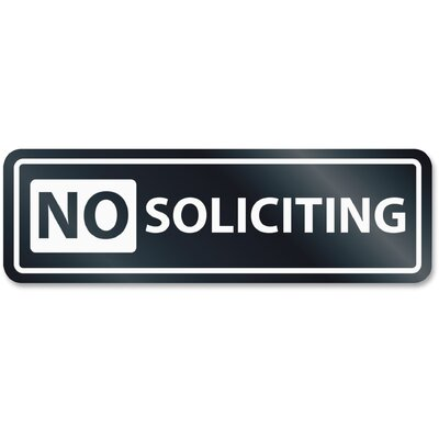 No Soliciting Window Sign