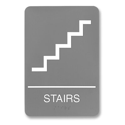 ADA Plastic Stairs Sign