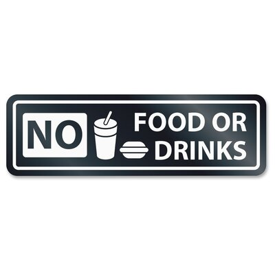 No Food or Drinks Window Sign