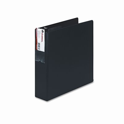 D-Ring Binder with Label Holder, 2in Capacity Color: Black