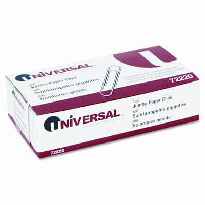 Smooth Paper Clips, 100/Box (Set of 7)
