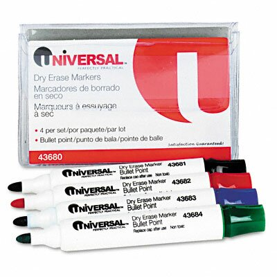Dry Erase Markers (4 Pack) (Set of 3) UNV43680