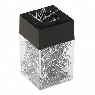 Paper Clips with Magnetic Dispenser, 12/100 Carton Boxes (Set of 2)