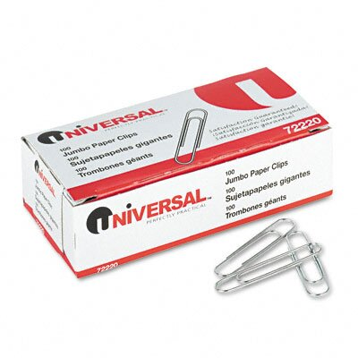 Smooth Paper Clips, 100/Box, 10 Boxes/Pack