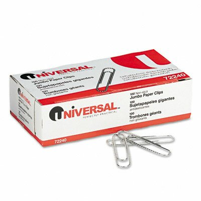 Nonskid Paper Clips, 100/Box, 10 Boxes/Pack