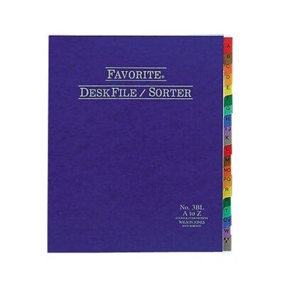 Desk File/Sorter, Indexed A-Z, 12x10, Blue (Set of 24) Color: Blue