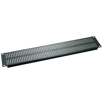 Vertical Slotted Econo Blank Vent Panel Panel Height: 3.5 H (2U space), Color: Black Anodized