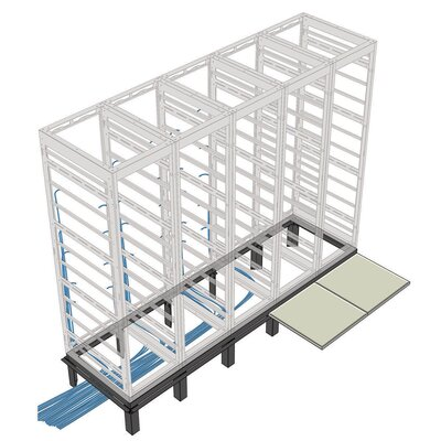 RIB Series Raised Floor Support Angles, for DRK 31 racks Number of Bays: 1