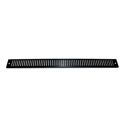 Vented Trim Panel for Slim 5 Series Racks Finish: Black Brushed Anodized
