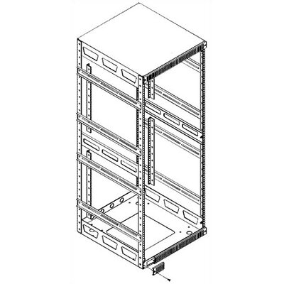 Slim 5 Series Adjustable Split Rear Rackrail Rack Spaces: 43U Rackspaces, Depth: 26 D