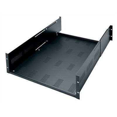 Adjustable Heavy Duty Vented Rack Shelf, 3U Space (5 1/4)