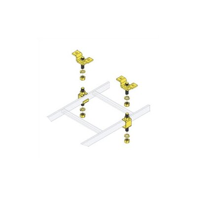 CL Series Slotted Ladder Support Hardware with Ceiling Hang Kit Quantity: 6 pairs