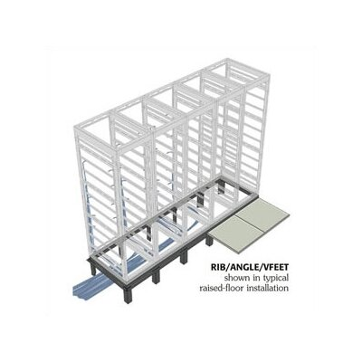RIB Series Raised Floor Support Angles, for DRK 36/42 D racks Number of Bays: 1