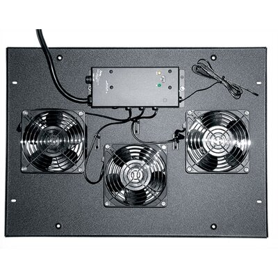 ERK Series 4 1/2 Fan Top Finish: Black, Fans: Included