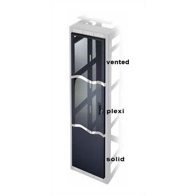 DWR Series Regular Perforated Vented Front Door Finish: Black, Rack Height: 17.5 H (10U Space)