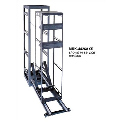 Seismic Certified AXS Slide Out System Housed in MRK Steel Host Enclosure Rack Spaces: 34U Spaces