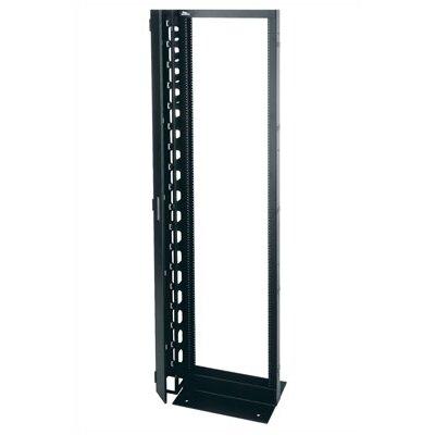 45 Rackspace Aluminum Relay Rack Size: 83.75 H x 19 W x 15D, Finish: Black