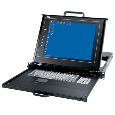 Rackmount with LCD, Keyboard and Touchpad KVM Switch: 16 Port
