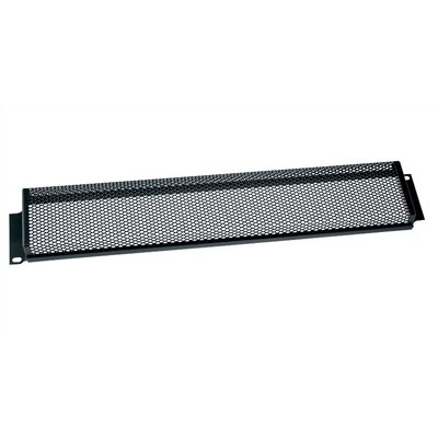Security Cover for Rackmount, Perforated Steel Perforation Style: Fine Perforation, Cover Height: 3 1/2 H (2U Space)