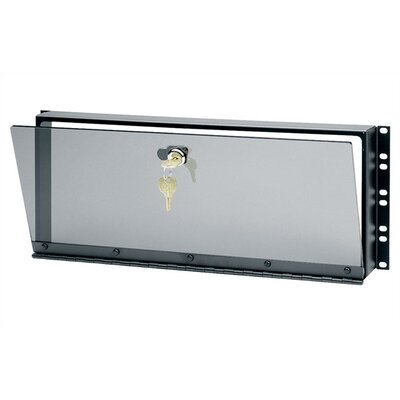 Hinged Plexiglass Security Cover for Rackmounts Height: 7 H (4U space)