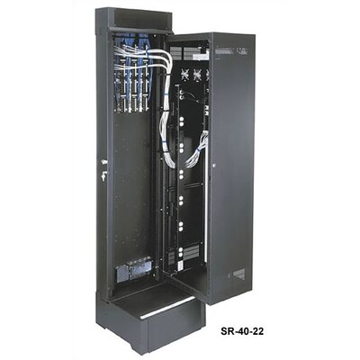 SR Series Pivoting Wall Mount Rack with 40 Rackspaces Size: 90.75